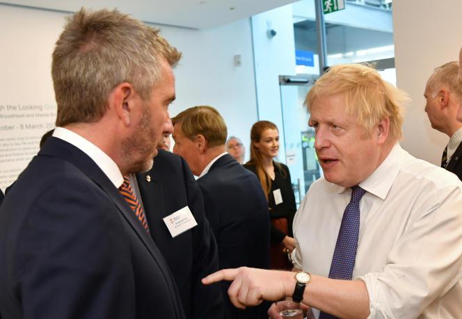 Le premier ministre britannique, Boris Johnson, à l'université de Sunderland, le 31 janvier.
