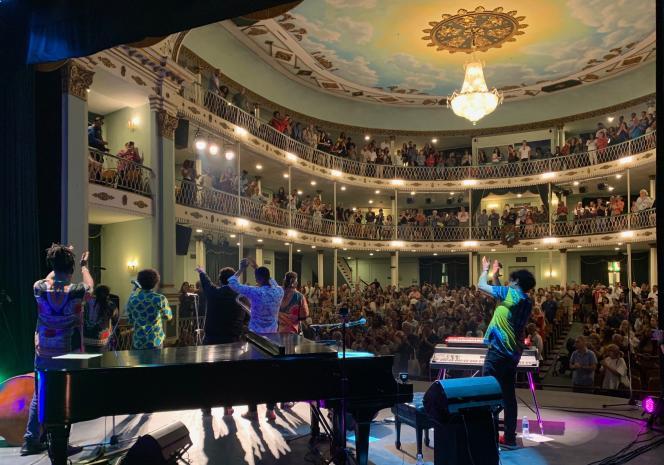 El Comité au Teatro Martí dans le cadre du festival Jazz Plaza. Le 19 janvier 2020. La Havane, Cuba.