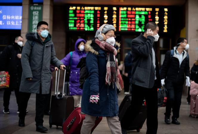 A la gare de Pékin, le 1er février.
