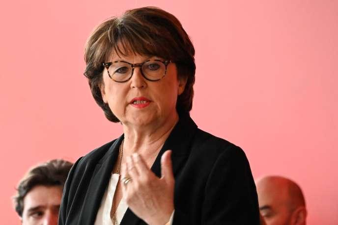Martine Aubry lors de la présentation de son programme à la presse, le 1er février à Lille.