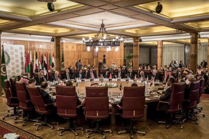 La Ligue arabe s'est réunie en urgence pour parler du plan de paix proposé par Washington, au Caire, le 1er février.