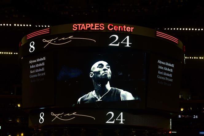 Au Staples Center de Los Angeles, le 2 février 2020.
