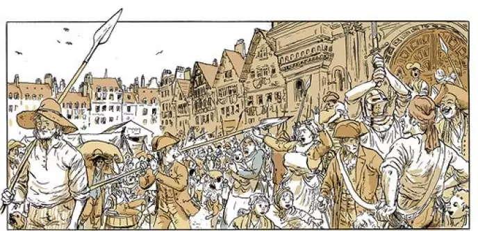Image extraite de« Révolution» (Actes Sud/L'An 2), de Younn Locard et Florent Grouazel.