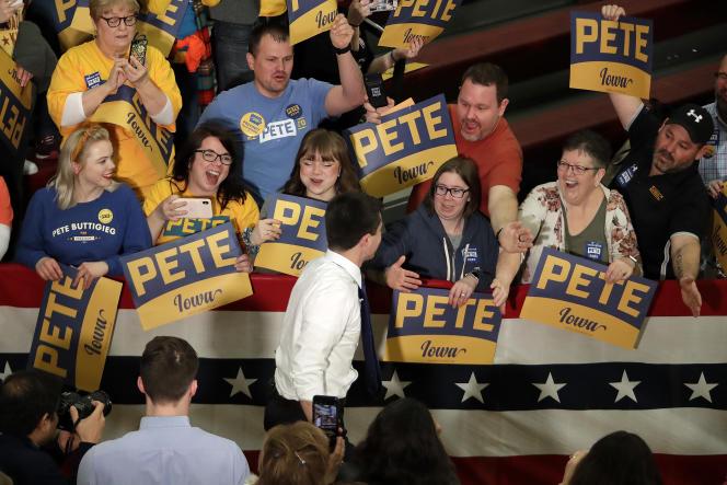 Pete Buttigieg, à Des Moines (Iowa), le 2 février.