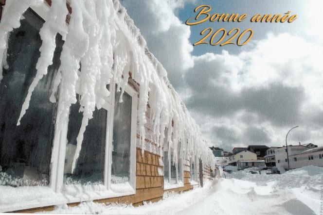 Une vue de Saint-Pierre sous la neige, par Patrick Dérible.