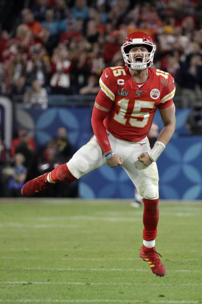 Le quaterback des Kansas City Chiefs, Patrick Mahomes, lors du Super Bowl contre les San Francisco 49ers, le 2 février, à Miami (Floride).