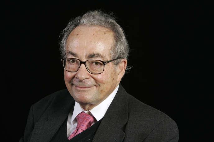 George Steiner, lors d'un événement organisé à la Sorbonne, à Paris, en 2006.