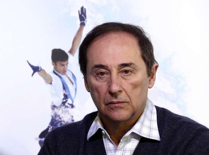 Le président de la Fédération française des sports de glace, DidierGailhaguet, le 7février 2014 lors des JO de Sotchi.
