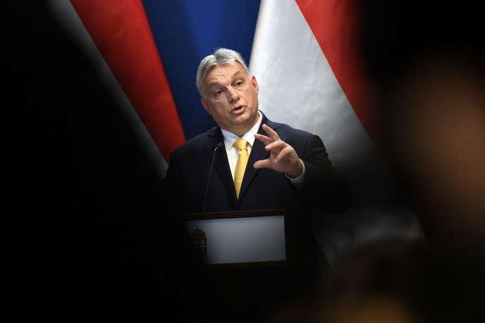 Le premier ministre hongrois, Viktor Orban, le 9 janvier, à Budapest.