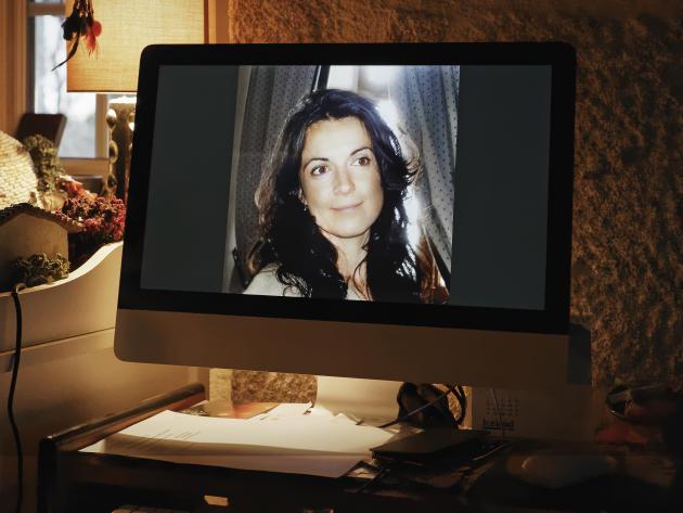 Une photo de Céline Michau au domicile d'une de ses proches.