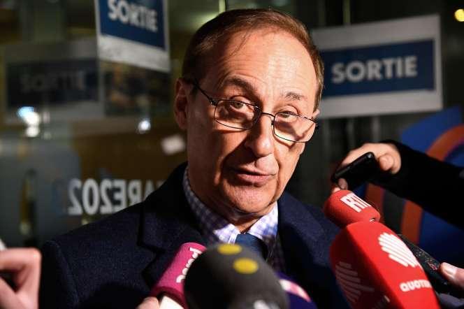 Didier Gailhaguet, à Paris, le 3 février, cinq jours avant qu'il démissionne de la présidence de la Fédération française des sports de glace.