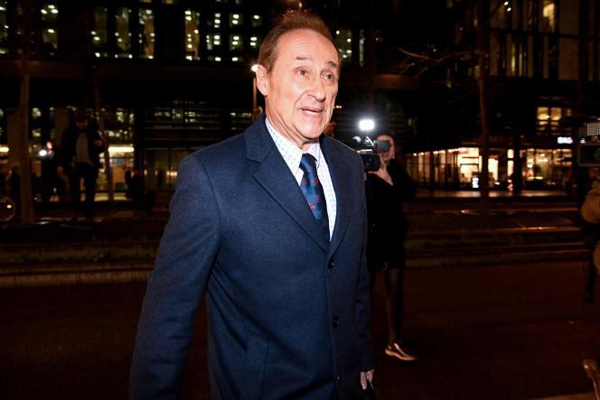 Didier Gailhaguet, le 3 février à Paris, au sortir du ministère des sports.