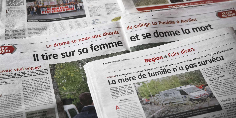 Des coupures de presse relatant l'assassinat de Céline Michau, conservées par une proche de la victime.