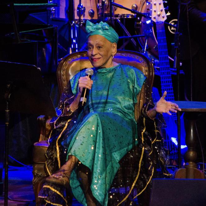 Omara Portuondo, le 19 janvier 2020 au festival Jazz Plaza. La Havane, Cuba