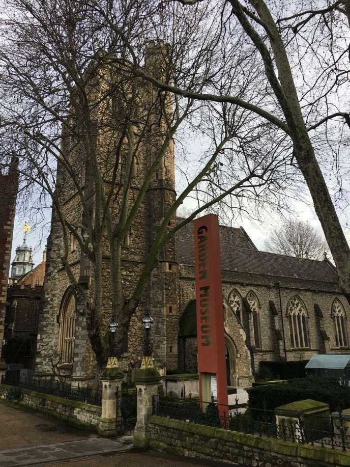 L'entrée du Garden Museum, dans le quartier londonien de Lambeth.