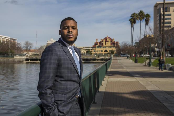 Michael Tubbs, maire de Stockton (Californie), en janvier 2018.
