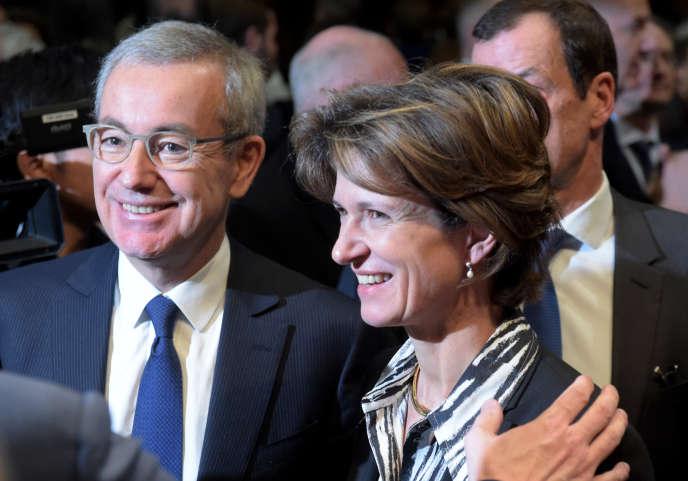 Le président d'Engie, Jean-Pierre Clamadieu, et la directrice générale de l'énergéticien, Isabelle Kocher, le 7 janvier, au ministère de l'économie, à Paris.