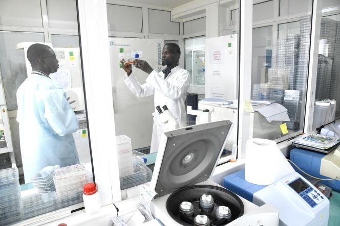 Des scientifiques de l'Institut Pasteur de Dakar, au Sénégal, le 3février 2020.