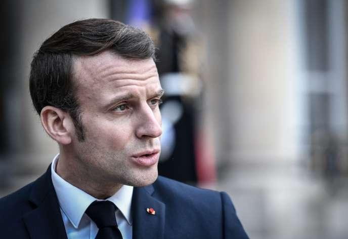 Emmanuel Macron, à l'Elysée, à Paris, le 5 février 2020.