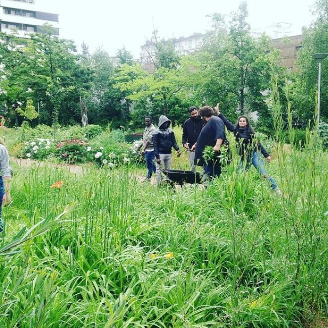 Projet Les Clochettes, au jardin Le Ver têtu, dans le 19e arrondissement de Paris.