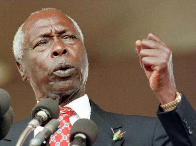 Le président kényan Daniel arap Moi, à Nairobi, le 5janvier 1998.