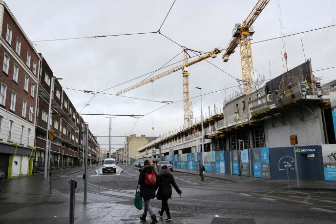 Des logements en construction à Dublin, le 30 janvier.