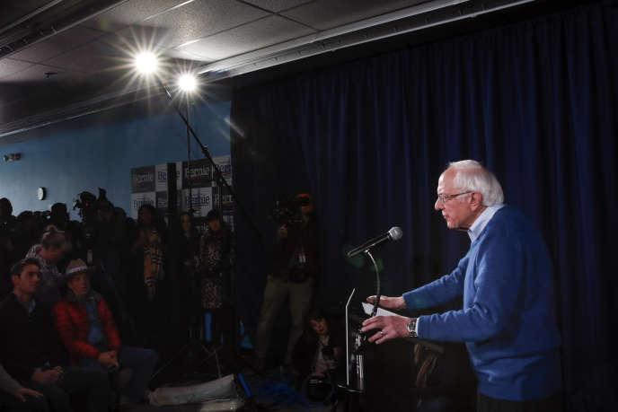 Le candidat démocrate Bernie Sanders, à Manchester (New Hampshire), le 6février.