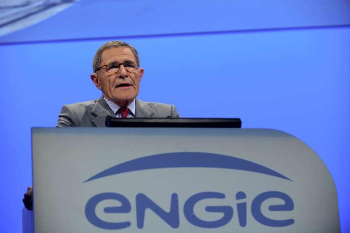 Gérard Mestrallet, ancien président du conseil d'administration d'Engie, lors de l'assemblée de l'énergéticien, en 2017.