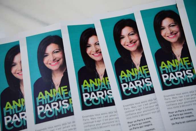 Lors de la présentation du programme d'Anne Hidalgo, à Paris, le 6 février.