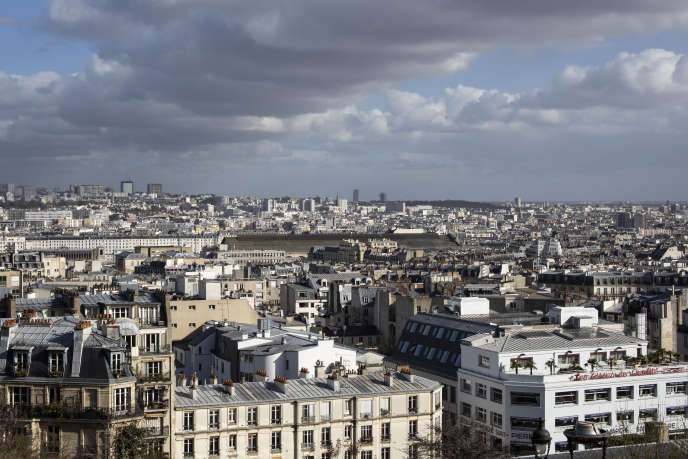 View of Paris, March 13, 2019.