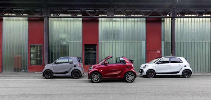 La nouvelle génération de Smart : Fortwo coupé, Fortwo Cabrio et Forfour.