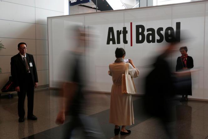 A la foire d'Art Basel, à Hongkong, en mars 2018.