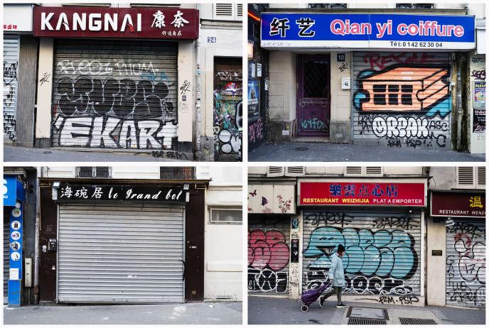 A Paris, les rues du quartier de Belleville se vident avec la peur du coronavirus