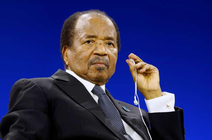 Le président camerounais, Paul Biya, à Paris, le 12novembre 2019.