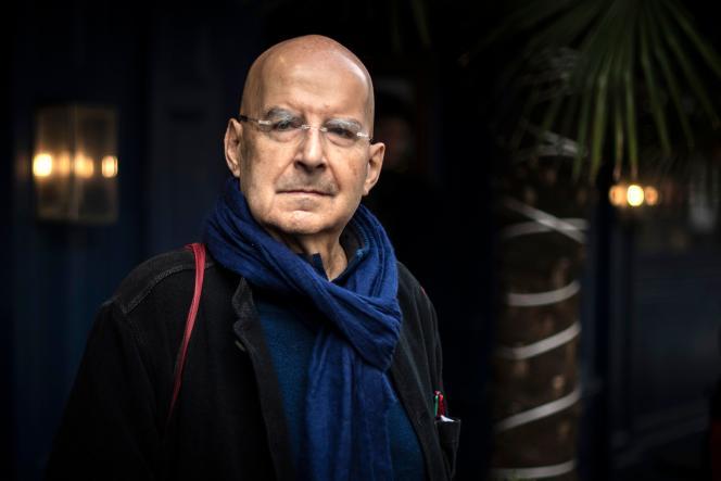 L'écrivain Pierre Guyotat, lauréat du prix Médicis, en novembre 2018 à Paris.