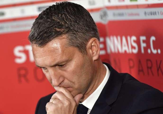 Olivier Létang, à son arrivée au club en novembre 2017.