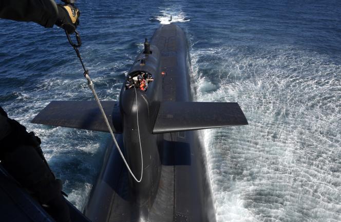 Le sous-marin français «Le Terrible», le 4 juillet 2017.