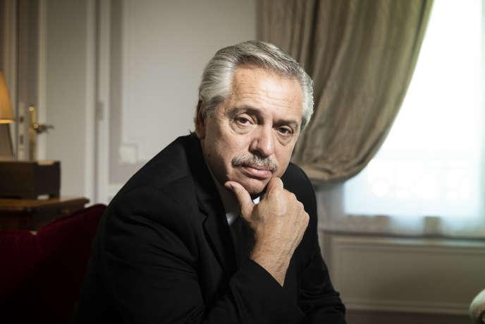 Alberto Angel Fernandez, à Paris, le 6 février 2020.
