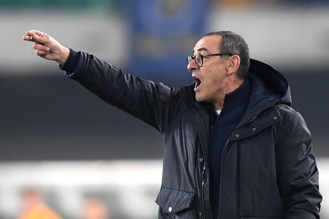 Maurizio Sarri, entraîneur de la Juventus Turin.