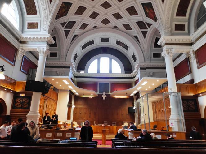 La salle d'audience de la cour d'assises du Gard, à Nîmes, le 7 février.