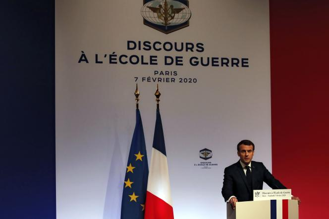 Emmanuel Macron a exhortés les nations européennesà promouvoir un «programme international de maîtrise des armements»,à Paris, le 7 février.