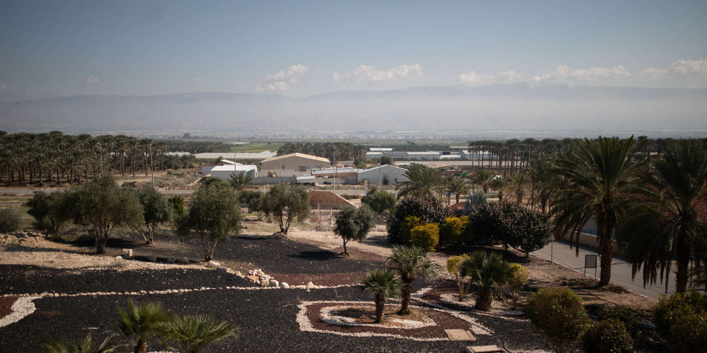 General view as seen from the Aravot Ha-Yarden Regional Council, with farm plantations in the background, Yordan Valley, West Bank, February 04, 2020.