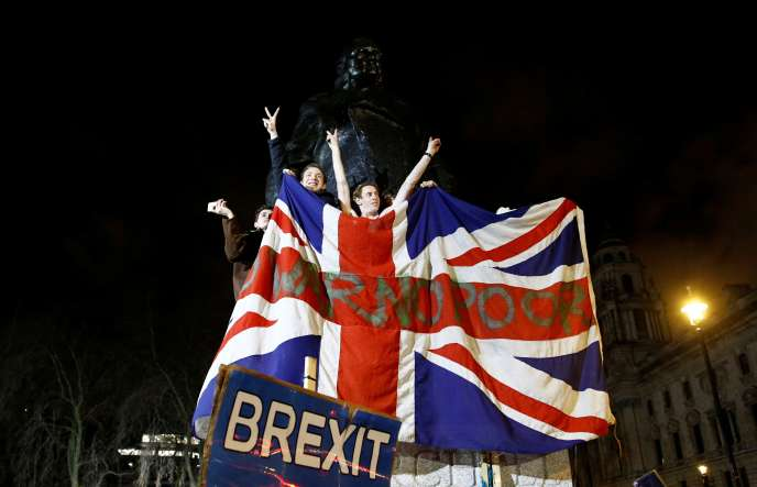A Londres, au soir du Brexit, le 31 janvier.