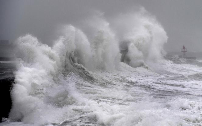 A Plobannalec-Lesconil, dans le Finistère, dimanche 9 février.