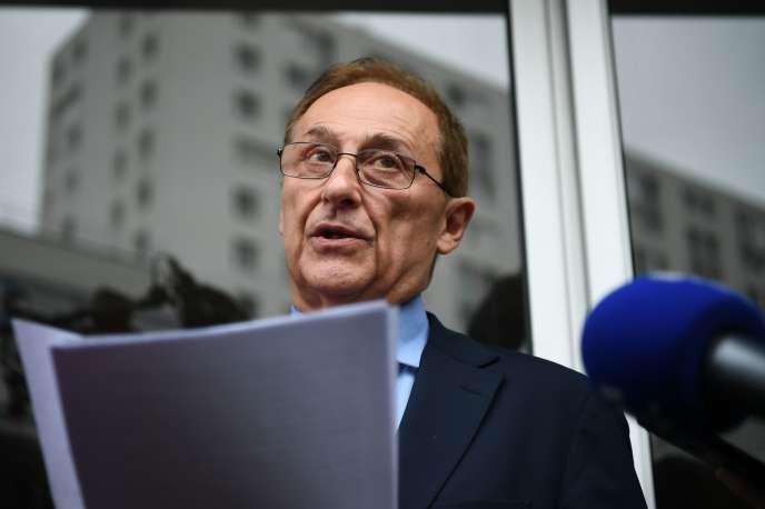 Didier Gailhaguet a annoncé sa démission de la présidence de la Fédération française des sports de glace, à Paris, le 8février.