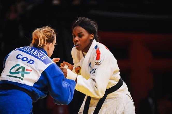 Madeleine Malonga, championne du monde et vainqueure du« grand slam» de Paris dimanche en moins de 78 kilos.