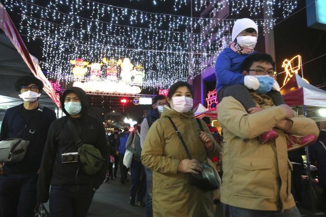 A Taipei, pendant les festivités du Nouvel An chinois, le 9 février.