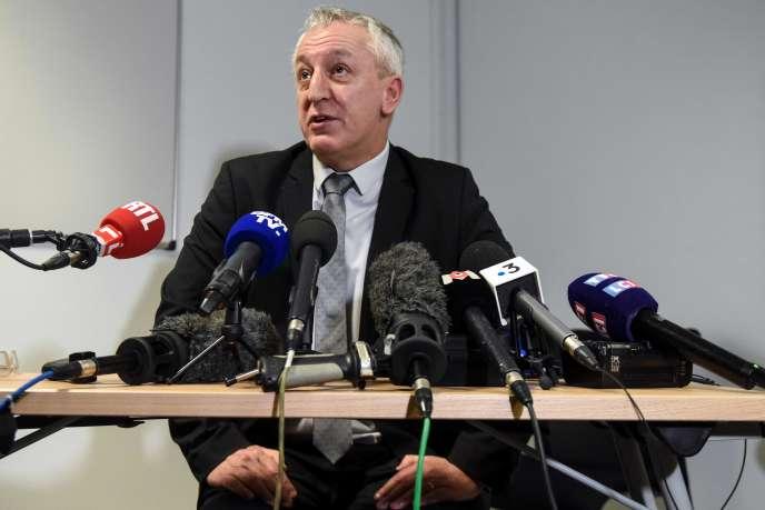 Le procureur d'Angers Eric Bouillard, lors de sa conférence de presse le 10 février.
