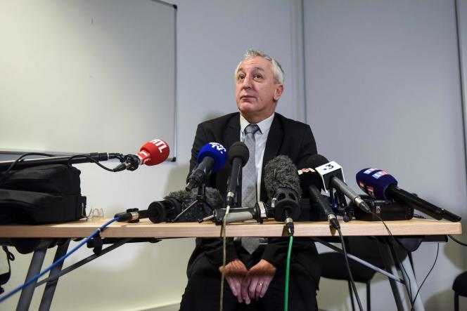 Eric Bouillard, procureur de la République d'Angers, le 9 février.