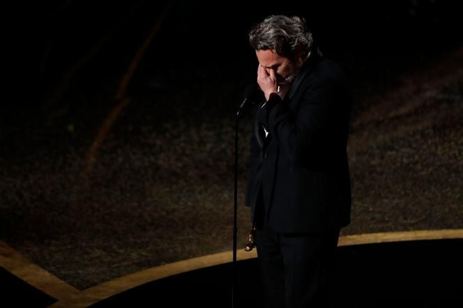 Joaquin Phoenix était très ému de remporter l'Oscar du meilleur acteur pour son rôle dans«Joker».